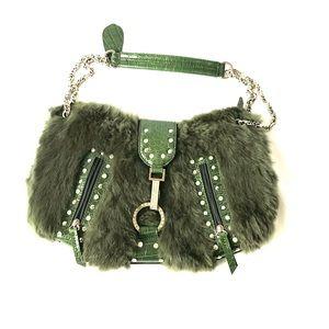 Handbags - Fur and alligator print purse